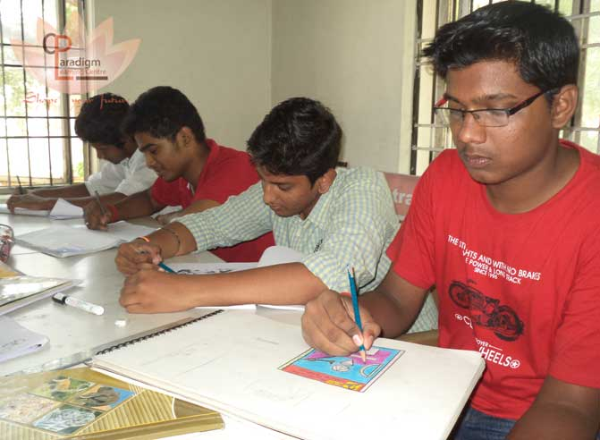 Students sketches are available in our NATA coaching classes in chennai, PLC